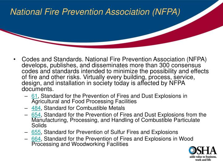 National Fire Prevention Association (NFPA)