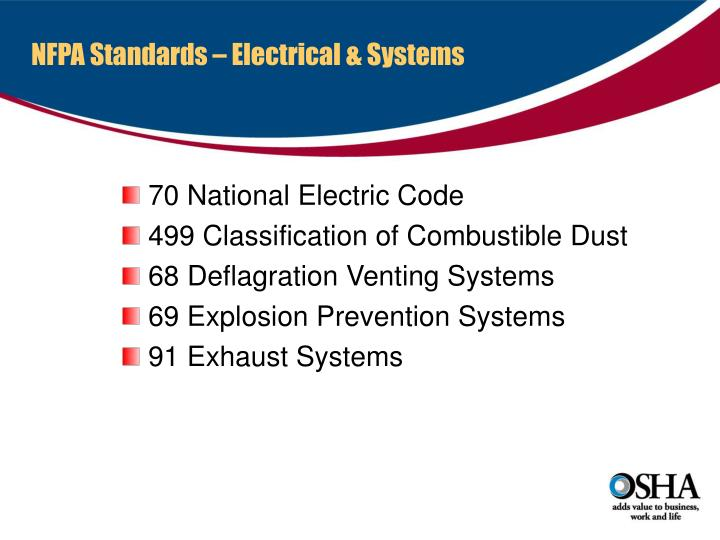 NFPA Standards – Electrical & Systems