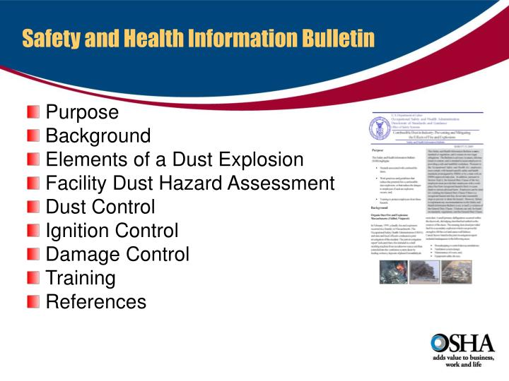 Safety and Health Information Bulletin