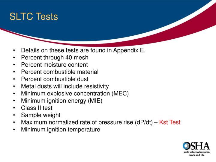 SLTC Tests