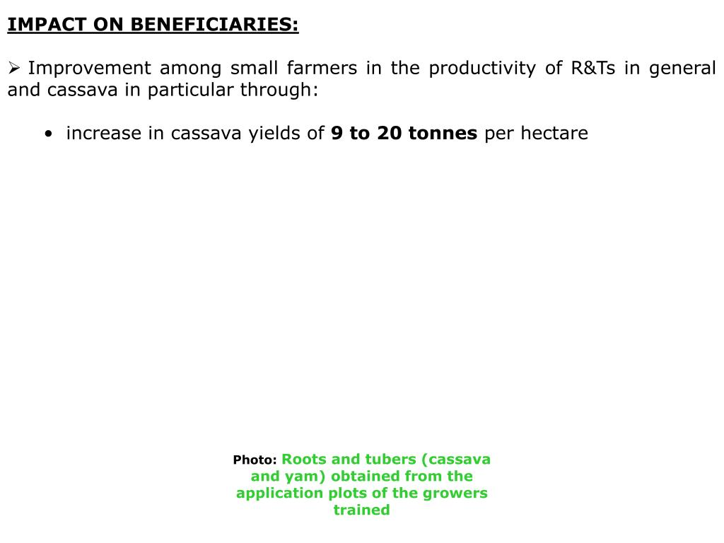 IMPACT ON BENEFICIARIES: