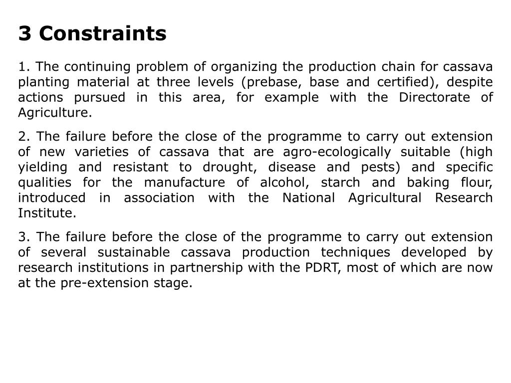 3 Constraints