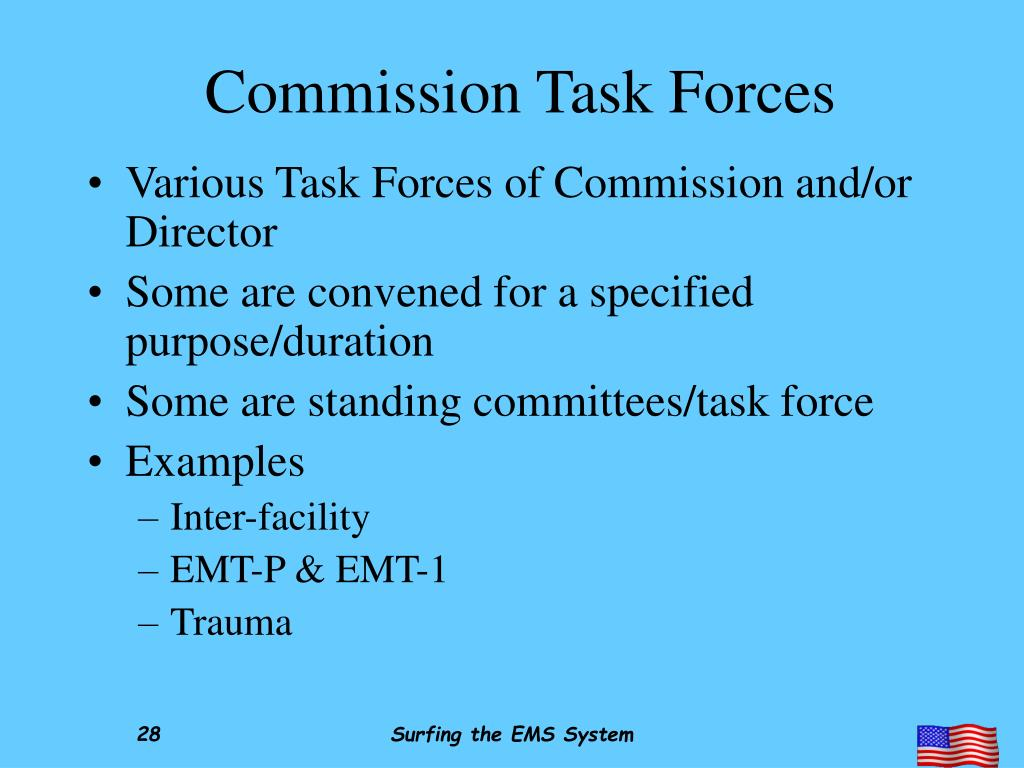 Commission Task Forces