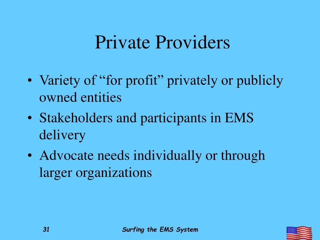 Private Providers