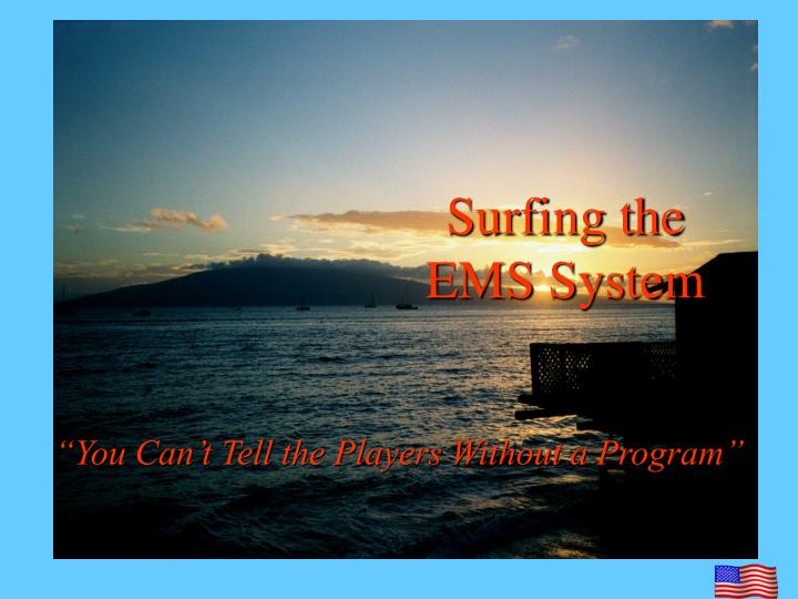 Surfing the ems system l.jpg