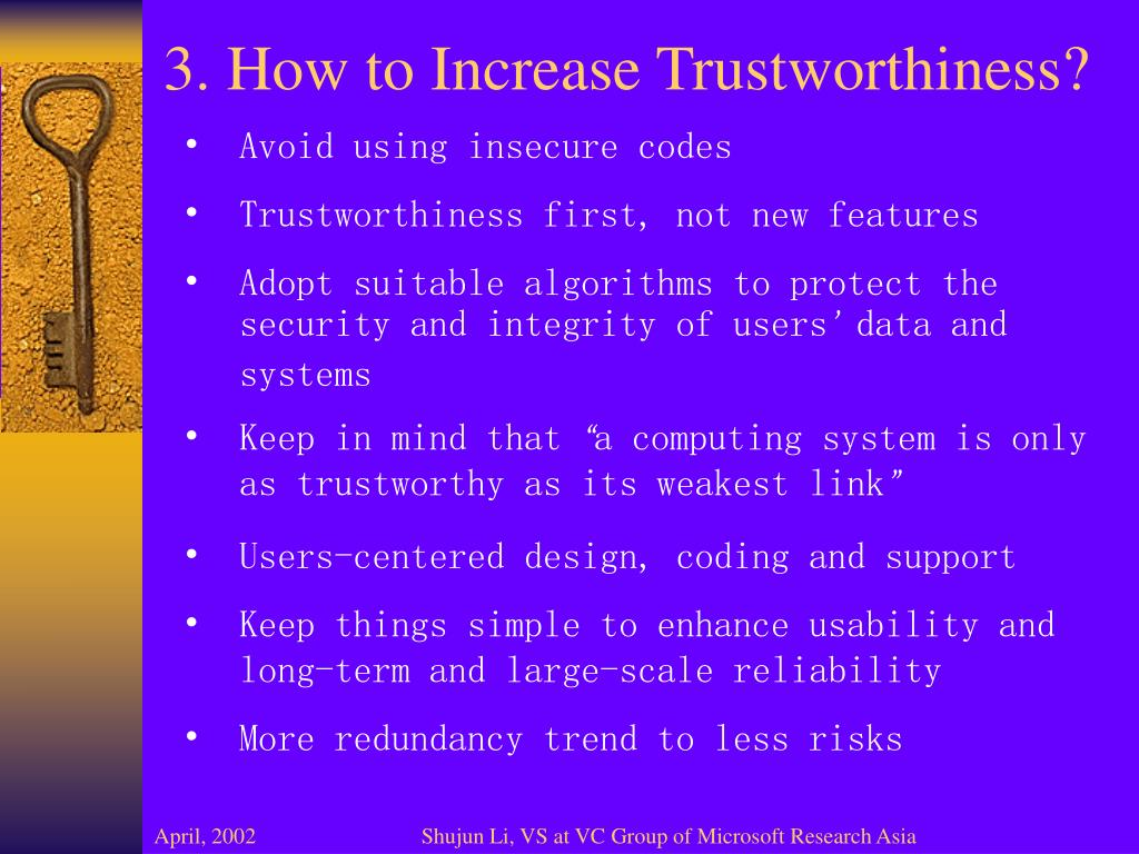 3. How to Increase Trustworthiness?