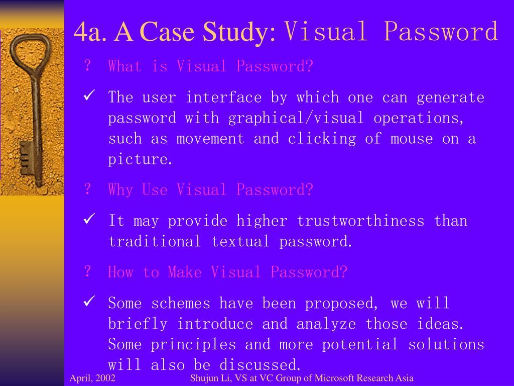 4a. A Case Study: