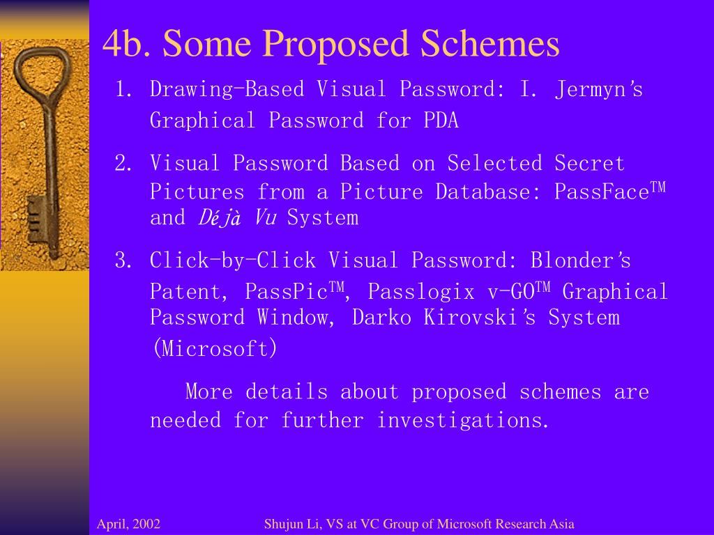 4b. Some Proposed Schemes