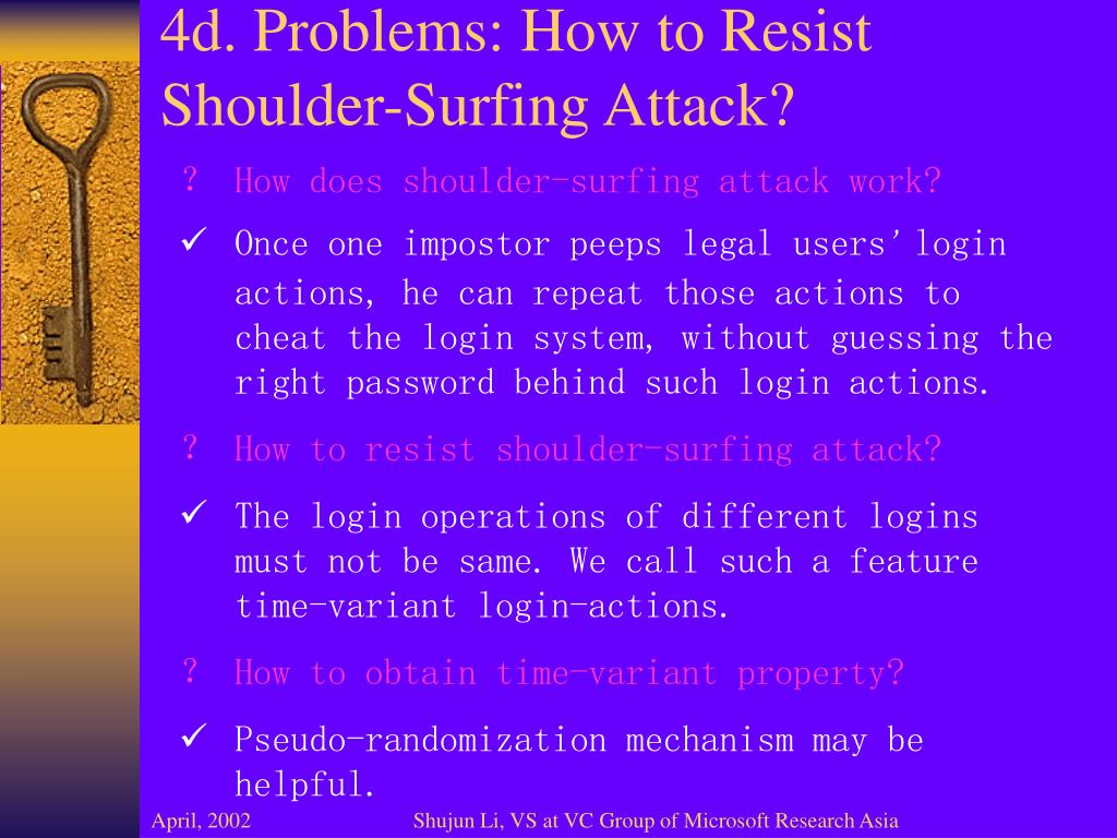 4d. Problems: How to Resist Shoulder-Surfing Attack?