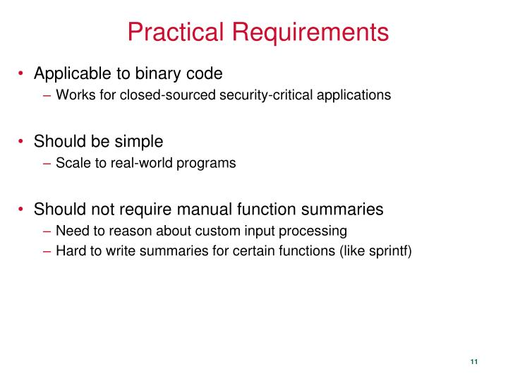 Practical Requirements