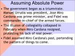 assuming absolute power