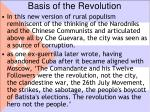 basis of the revolution