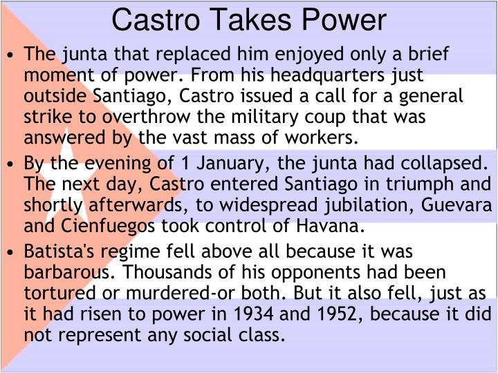 Castro Takes Power