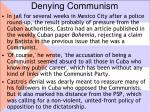 denying communism