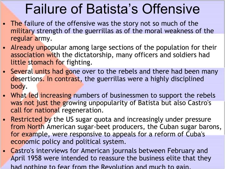 Failure of Batista's Offensive