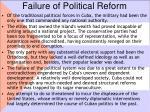 failure of political reform