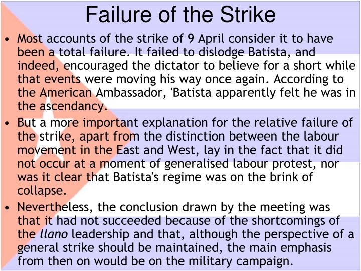 Failure of the Strike