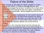 failure of the strike