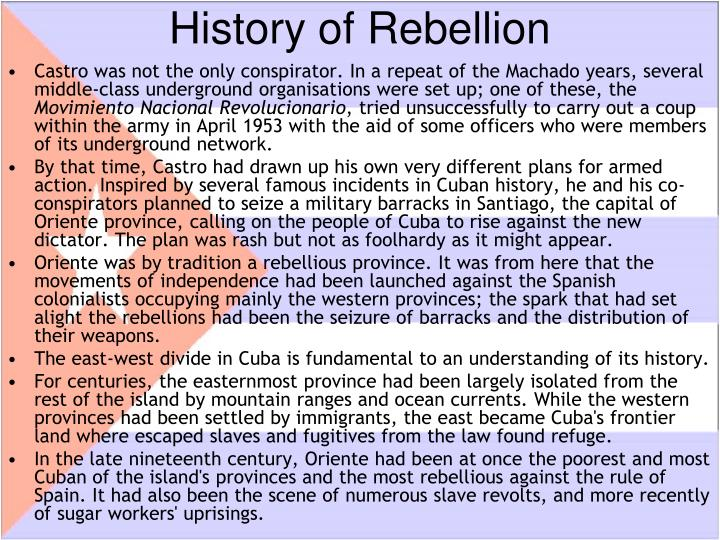 History of rebellion