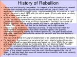 history of rebellion