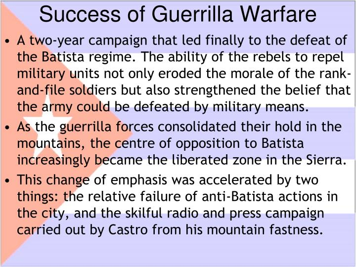 Success of Guerrilla Warfare