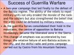 success of guerrilla warfare