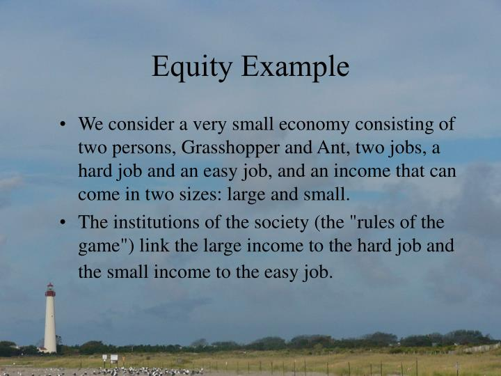 Equity Example