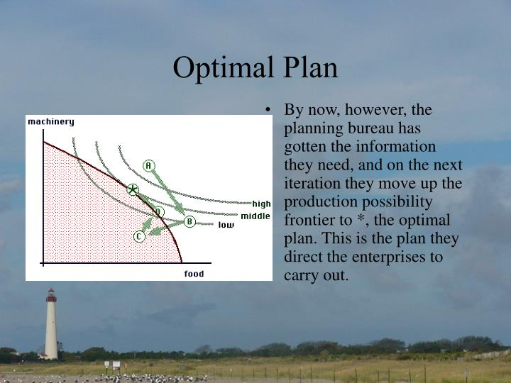 Optimal Plan