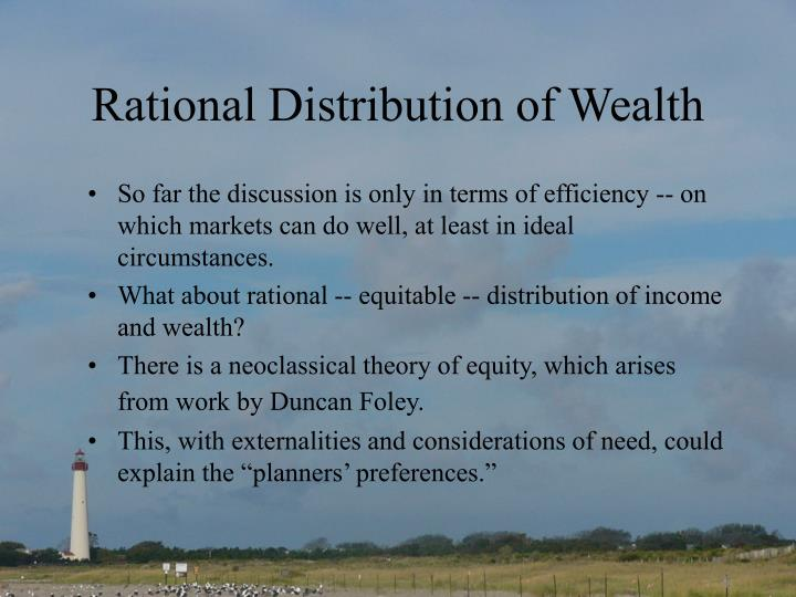 Rational Distribution of Wealth
