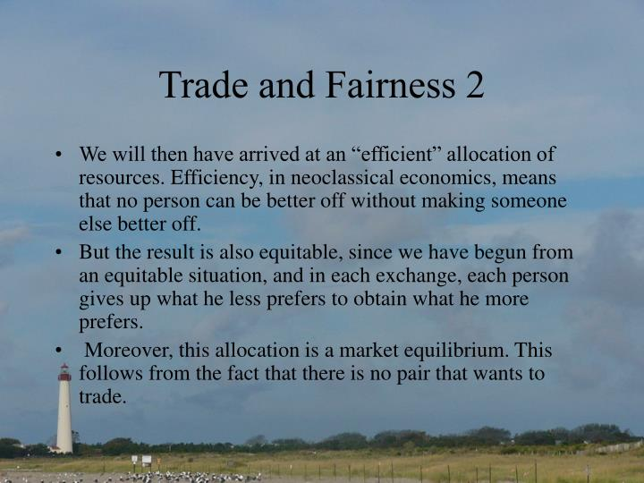 Trade and Fairness 2