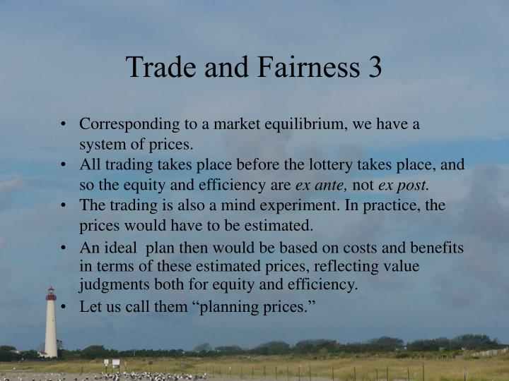 Trade and Fairness 3