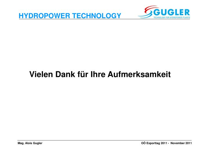 HYDROPOWER TECHNOLOGY