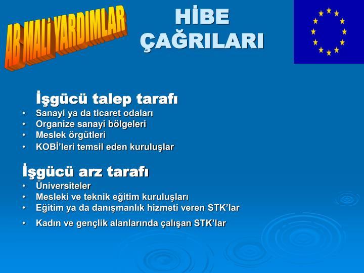 AB MALİ YARDIMLAR