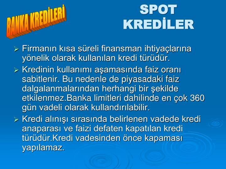 SPOT KREDİLER