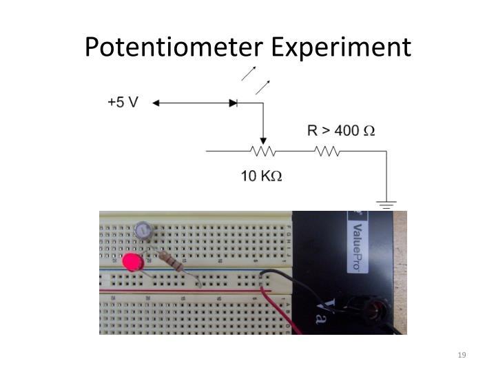 Potentiometer Experiment