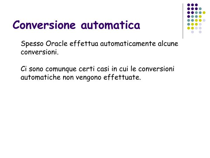 Conversione automatica