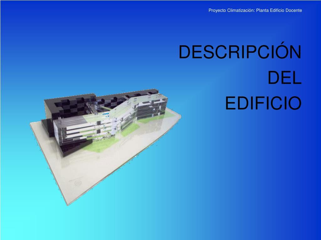 Proyecto Climatización: Planta Edificio Docente
