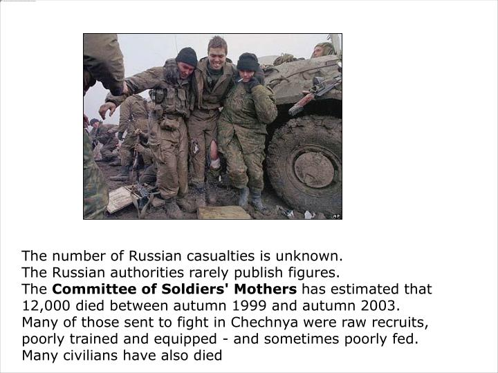 The number of Russian casualties is unknown.