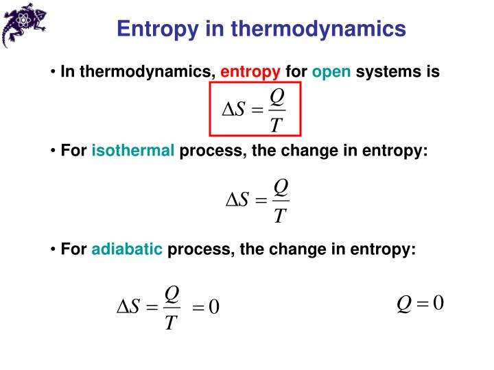 Entropy in thermodynamics