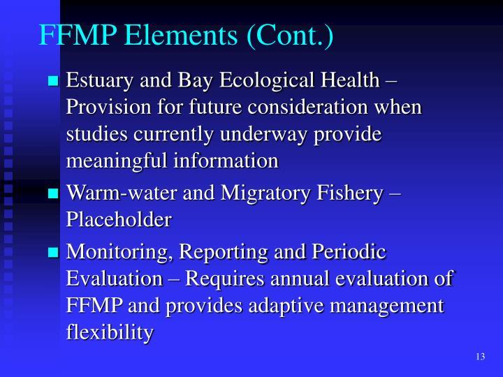 FFMP Elements (Cont.)