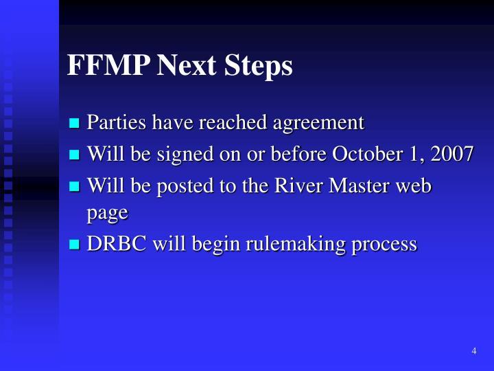 FFMP Next Steps