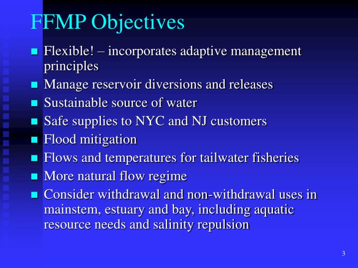 Ffmp objectives