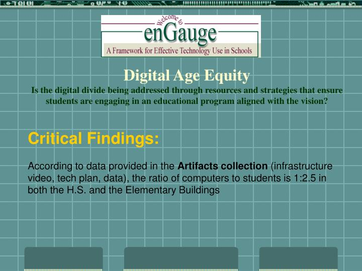 Digital Age Equity