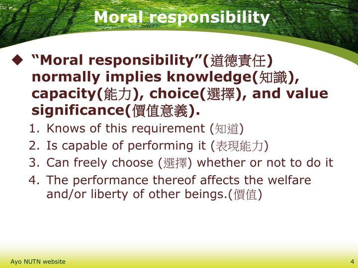 Moral responsibility