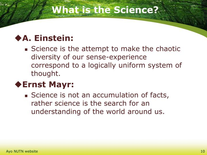 What is the Science?