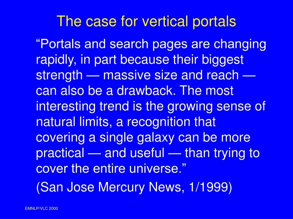 The case for vertical portals