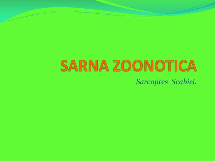 SARNA ZOONOTICA