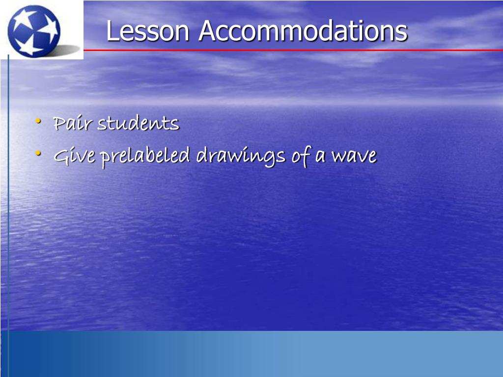 Lesson Accommodations