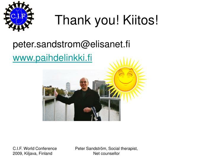 Thank you! Kiitos!
