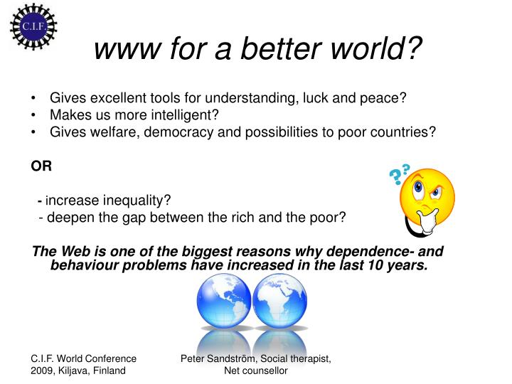www for a better world?